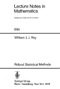 LNM690 Robust Statistical Methods 0387090916