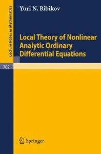 Local Theory of Nonlinear Analytic Ordinary Differential Equations