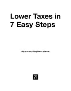 Lower Taxes in 7 Easy Steps