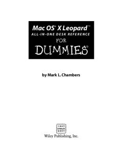 Mac OS X Leopard All-in-One Desk Reference For Dummies (For Dummies (Computer Tech))