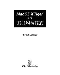 Mac OS X Tiger For Dummies