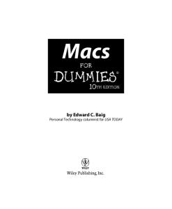 Macs For Dummies, 10th Edition (For Dummies (Computer Tech))