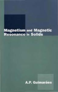 Magnetism and Magnetic Resonance in Solids