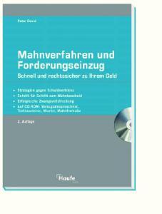 Mahnverfahren und Forderungseinzug, 2.Auflage