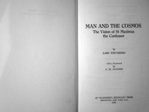 Man and the cosmos: the vision of St.  Maximus the Confessor