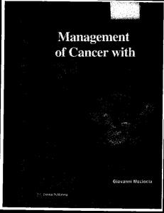 Management of Cancer with Traditional Chinese Medicine