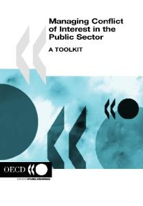 Managing Conflict of Interest in the Public Sector: A Toolkit