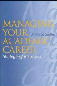 Managing your academic career: strategies for success