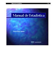 Manual De Estadistica