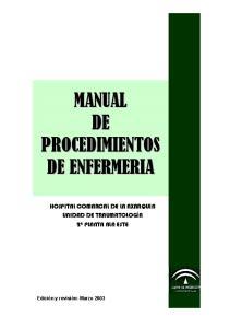 Manual De Procedimientos De Enfermeria 1