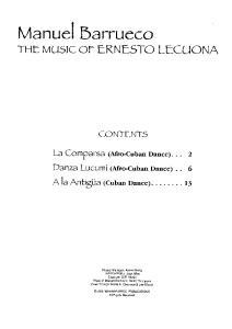 Manuel Barrueco: The Music of Ernesto Lecuona for Solo Guitar (Guitar Scores)