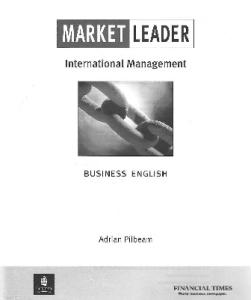 Market Leader:  International Management