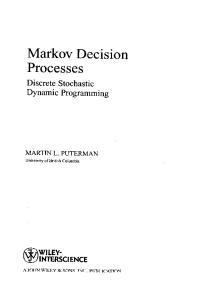 Markov decision processes. Discrete stochastic dynamic programming MVspa