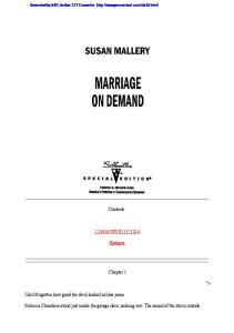 Marriage On Demand