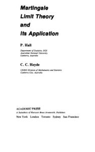 Martingale Limit Theory and Its Application (Probability and Mathematical Statistics)