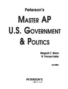 Master the AP Government and Politics (Peterson's Ap U. S. Government & Politics)