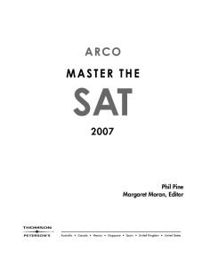 Master the SAT   2007