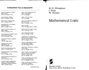 Mathematical Logic: Undergraduate Texts in Mathematics