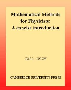 Mathematical Methods for Physicists. a Concise Introduction