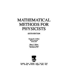 Mathematical Methods for Physicists, Sixth Edition