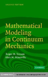 Mathematical Modeling in Continuum Mechanics, Second Edition