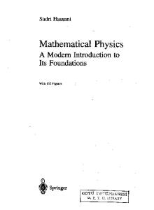 Mathematical Physics: A Modern Introduction to Its Foundations