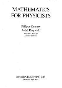 Mathematics for Physicists (Dover Books on Mathematics)
