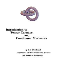 Mathematics. Introduction To Tensor Calculus