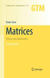 Matrices: Theory and applications
