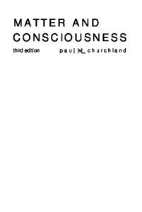 Matter and Consciousness Third Edition 2013