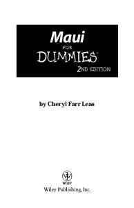 Maui For Dummies, Second Edition