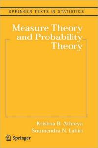 Measure Theory and Probability Theory   Edition 1