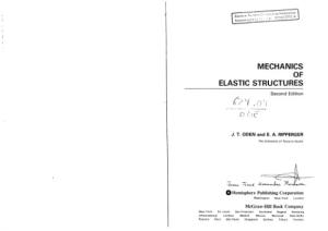 Mechanics of Elastic Structures