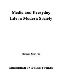 Media and Everyday Life in Modern Society