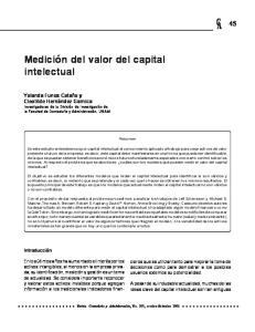Medicion Del Valor Del Capital Intelectual