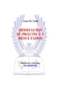 Meditacion Su Practica Y Resulatados