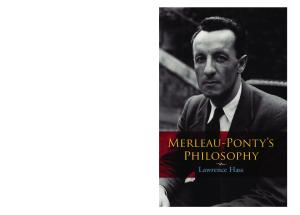 Merleau-Ponty's Philosophy (Studies in Continental Thought)