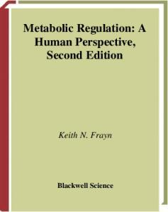 Metabolic Regulation: A Human Perspective, 2nd Edition