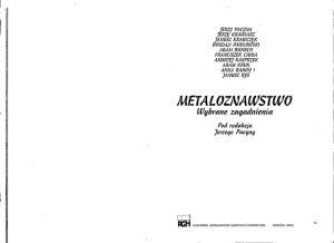 Metaloznawstwo: wybrane zagadnienia