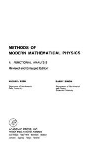 Methods of Modern Mathematical Physics - Volume 1: Functional Analysis