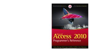 Microsoft Access 2010 Programmer's Reference