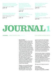 Microsoft Architects Journal: Journal 1 (January, 2004)