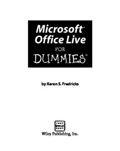 Microsoft Office Live For Dummies (For Dummies (Computer Tech))