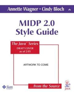 MIDP Style Guide for the Java 2 Platform