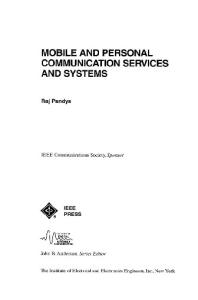 Mobile and Personal Communication Services and Systems (IEEE Series on Mobile & Digital Communications)