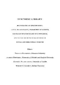 Models for Modalities: Selected Essays (Synthese Library, 23)