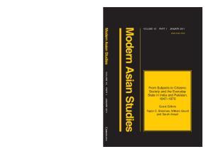 Modern Asian Studies Volume 45 Part 1 January 2011