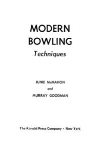 Modern Bowling Techniques