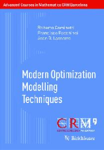 Modern Optimization Modelling Techniques