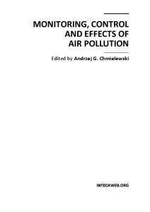 Monitoring, Control and Effects of Air Pollution